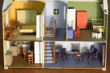 Kit N19 furniture, installed into the dolls house kit S2\\n\\n07/06/2016 11:40