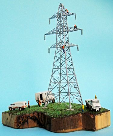 N14 on a diorama, with a maintenance crew, by Paul Gandy of PG Models. www.pg-models.co.uk\\n\\n16/09/2017 15:58