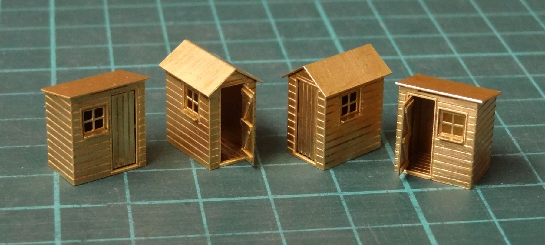 N13 Set of 4 Garden Sheds