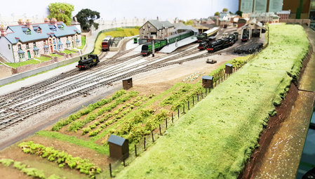 Kit N13 garden sheds on John Greenwood's 2mmFS layout 'Wadebridge'. Photo by Phil Copleston\\n\\n19/09/2016 10:19